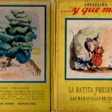 Libros de segunda mano: LA RATITA PRESUMIDA Y LAS MARAVILLAS DE UNA COL (Y QUÉ MÁS ROMA). Lote 181207756