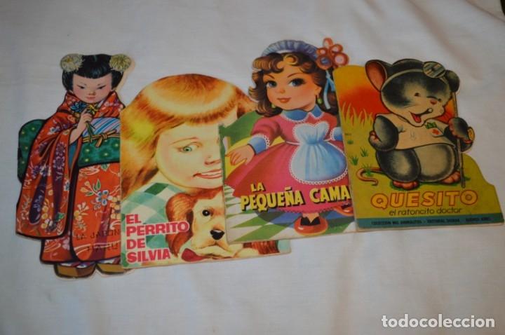 LOTE 4 CUENTOS ANTIGUOS TROQUELADOS VARIADOS - AÑOS 50/60 - DIFERENTES EDITORIALES ¡MIRA! (Libros de Segunda Mano - Literatura Infantil y Juvenil - Cuentos)