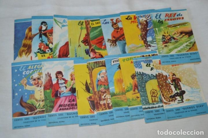 CUENTOS SERIE BUENOS DÍAS - LOTE 17 CUENTOS VARIADOS / EDITORIAL ROMA - AÑOS 50/60 ¡MIRA! (Libros de Segunda Mano - Literatura Infantil y Juvenil - Cuentos)