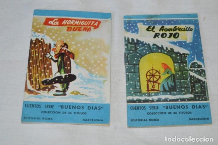 Libros de segunda mano: Cuentos serie BUENOS DÍAS - Lote 17 cuentos variados / Editorial ROMA - Años 50/60 ¡Mira! - Foto 2 - 181337901