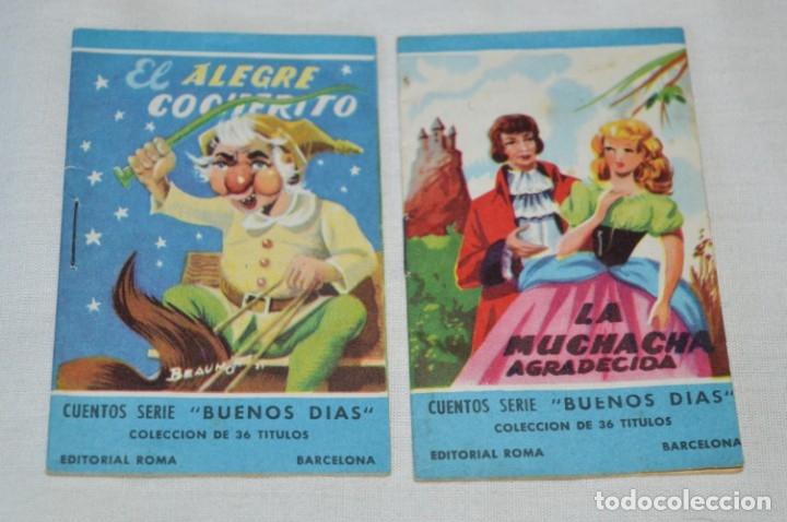 Libros de segunda mano: Cuentos serie BUENOS DÍAS - Lote 17 cuentos variados / Editorial ROMA - Años 50/60 ¡Mira! - Foto 5 - 181337901