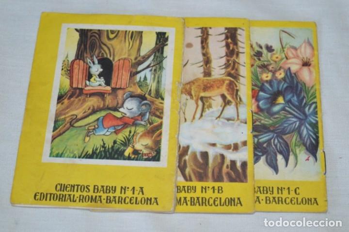 Libros de segunda mano: Serie CUENTOS BABY - Lote 10 cuentos variados / Editorial ROMA - Años 50/60 ¡Mira! - Foto 3 - 181342732