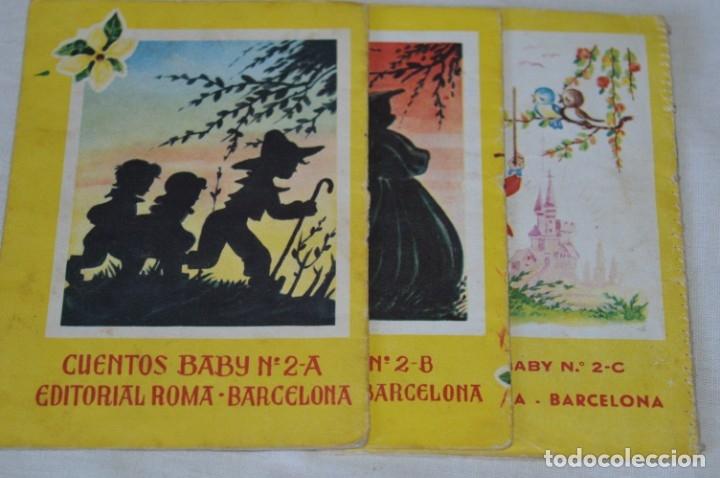Libros de segunda mano: Serie CUENTOS BABY - Lote 10 cuentos variados / Editorial ROMA - Años 50/60 ¡Mira! - Foto 5 - 181342732