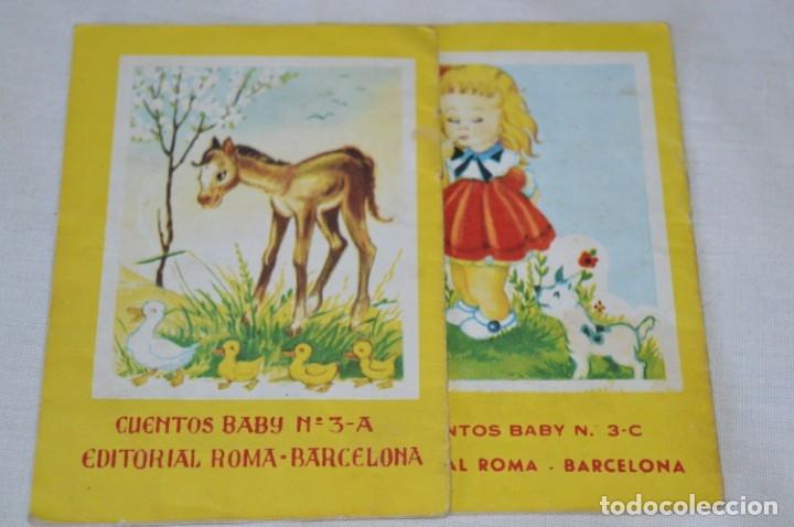 Libros de segunda mano: Serie CUENTOS BABY - Lote 10 cuentos variados / Editorial ROMA - Años 50/60 ¡Mira! - Foto 7 - 181342732