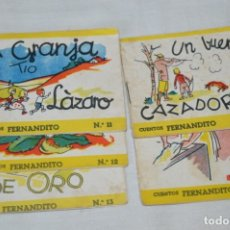 Libros de segunda mano: SERIE CUENTOS FERNANDITO - LOTE 5 CUENTOS VARIADOS / EDITORIAL ROMA - AÑOS 50/60 ¡MIRA!. Lote 181345590