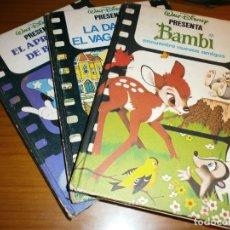 Libros de segunda mano: LOTE 3 LIBROS WALT DISNEY - BAMBI, EL APRENDIZ DE BRUJO, LA DAMA Y EL VAGABUNDO - C. INTERNACIONAL. Lote 182100382