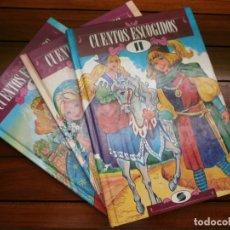 Libros de segunda mano: LOTE 3 CUENTOS ESCOGIDOS DE LA LITERATURA UNIVERSAL - Nº 11,12,13 - EDT SUSAETA - 1979.. Lote 182267645