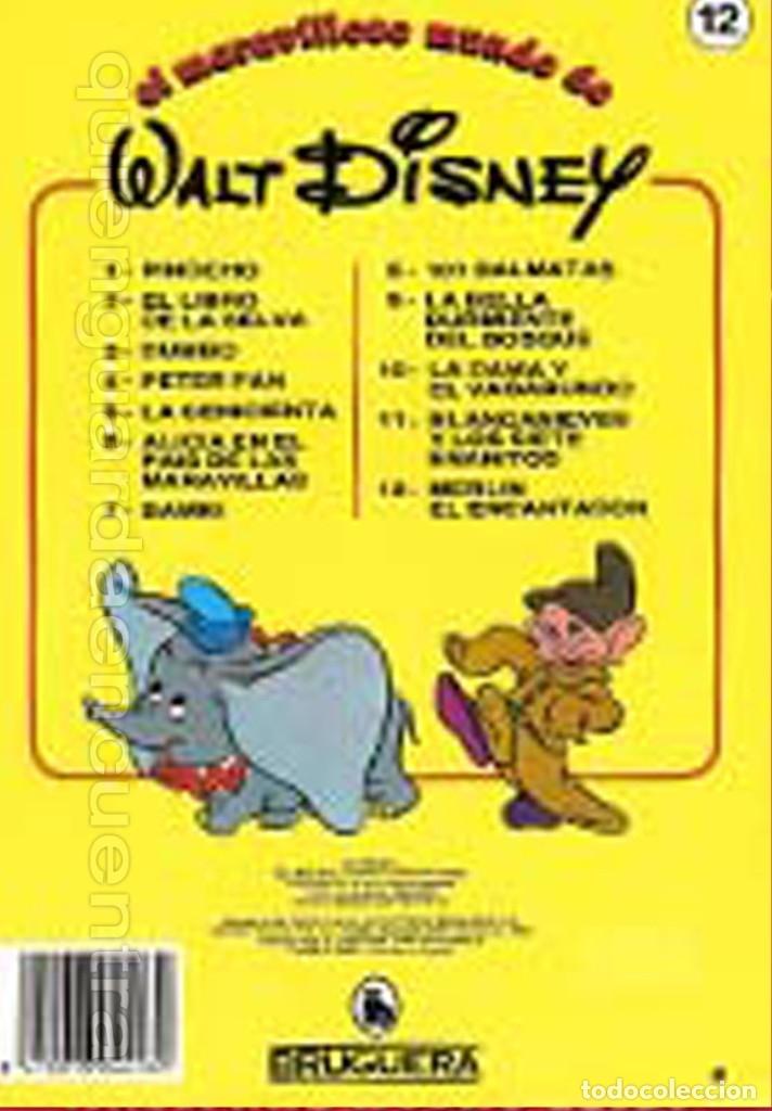 Libros de segunda mano: Merlín el encantador nº12 colección, el maravilloso mundo de Walt Disney Bruguera cuento 1986 - Foto 2 - 182492102