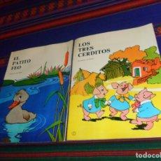 Libros de segunda mano: SERIE FABULANDIA NºS 7 LOS TRES CERDITOS Y 8 EL PATITO FEO. EDITORIAL VASCO AMERICANA 1980. RAROS.. Lote 182739846