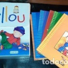 Libros de segunda mano: MALETÍN CON 6 CUENTOS DE MI MUNDO CAILLOU, ED. EVEREST. Lote 182741423