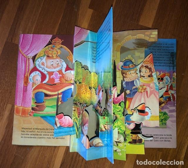 Libros de segunda mano: EL GATO CON BOTAS SALDAÑA 1984 - POP UP - Foto 2 - 182773806