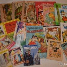 Libros de segunda mano: LOTE COLECCIONES DIFERENTES - 18 CUENTOS VARIADOS / EDITORIALES VARIADAS - AÑOS 40/60 ¡MIRA FOTOS!. Lote 183195023