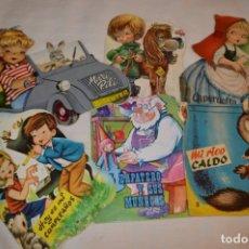 Libros de segunda mano: LOTE 02 ------- 6 CUENTOS ANTIGUOS TROQUELADOS VARIADOS - AÑOS 50/60 - DIFERENTES EDITORIALES ¡MIRA!. Lote 183260725