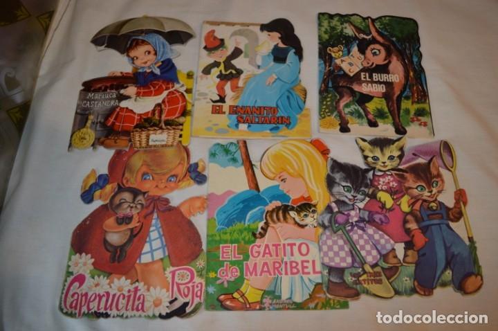 LOTE 04 ------- 6 CUENTOS ANTIGUOS TROQUELADOS VARIADOS - AÑOS 50/60 - DIFERENTES EDITORIALES ¡MIRA! (Libros de Segunda Mano - Literatura Infantil y Juvenil - Cuentos)