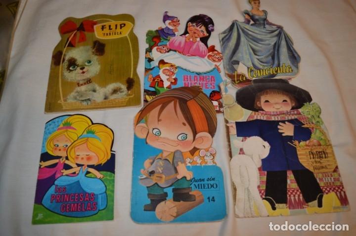 LOTE 06 ------- 6 CUENTOS ANTIGUOS TROQUELADOS VARIADOS - AÑOS 50/60 - DIFERENTES EDITORIALES ¡MIRA! (Libros de Segunda Mano - Literatura Infantil y Juvenil - Cuentos)
