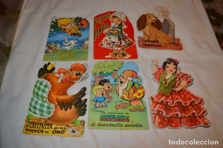 LOTE 07 ------- 6 CUENTOS ANTIGUOS TROQUELADOS VARIADOS - AÑOS 50/60 - DIFERENTES EDITORIALES ¡MIRA! (Libros de Segunda Mano - Literatura Infantil y Juvenil - Cuentos)