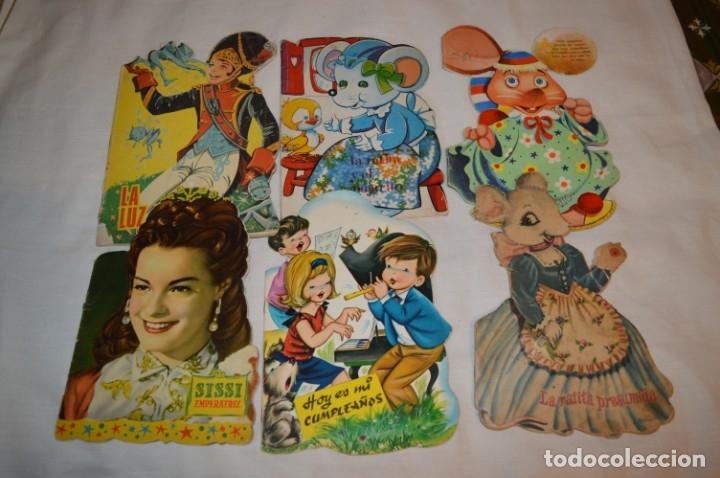 LOTE 08 ------- 6 CUENTOS ANTIGUOS TROQUELADOS VARIADOS - AÑOS 50/60 - DIFERENTES EDITORIALES ¡MIRA! (Libros de Segunda Mano - Literatura Infantil y Juvenil - Cuentos)
