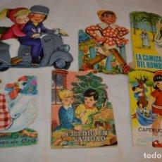 Libros de segunda mano: LOTE 11 ------- 6 CUENTOS ANTIGUOS TROQUELADOS VARIADOS - AÑOS 50/60 - DIFERENTES EDITORIALES ¡MIRA!. Lote 183268500