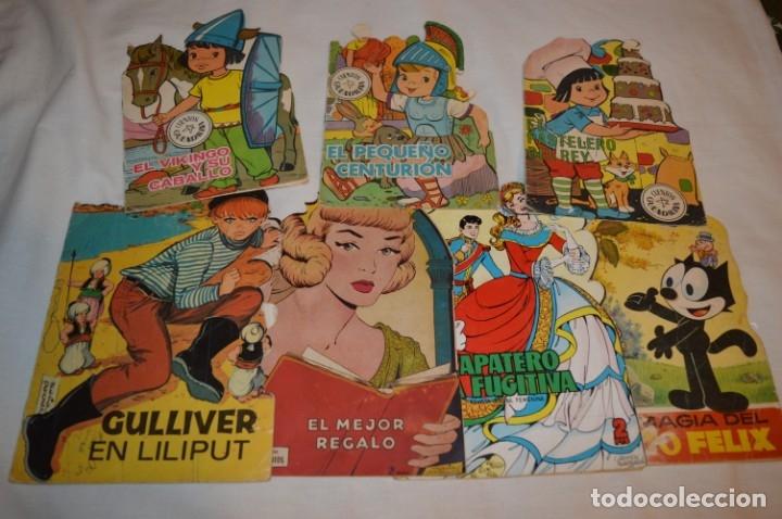 LOTE 14 ------- 7 CUENTOS ANTIGUOS TROQUELADOS VARIADOS - AÑOS 60/70 - DIFERENTES EDITORIALES ¡MIRA! (Libros de Segunda Mano - Literatura Infantil y Juvenil - Cuentos)