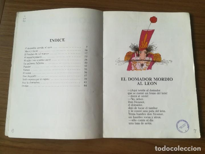 Libros de segunda mano: EL DOMADOR MORDIO AL LEON DE GLORIA FUERTES 1986 - Foto 2 - 183403957