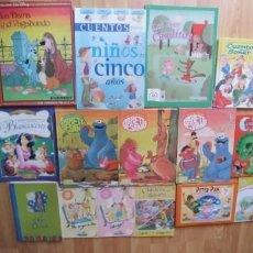Libros de segunda mano: LIBROS INFANTILES -LOTE DE 15-VARIADOS,TAPA DURA Y FINA,BUEN ESTADO,. Lote 183414738