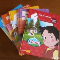 Libros de segunda mano: COLECCIÓN PLANETA JUNIOR - HEIDI, VICKY EL VIKINGO, MARCO - 9 LIBROS + DVD - STUDIO100, 2010.. Lote 183456503