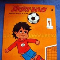 Libros de segunda mano: SPORT-BILLY MASCOTA OFICIAL FIFA 1982 SERIE GRAN-SPORT LIBRO PARA COLOREAR NUEVO INFANTIL. Lote 183711600