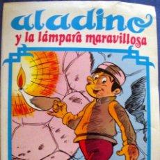 Libros de segunda mano: ALADINO Y LA LÁMPARA MARAVILLOSA CUENTOS PUMBY PARA ILUMINAR-NUEVO-VALENCIANA 1984-DIBUJOS ERGO. Lote 183712913