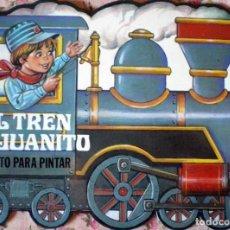 Libros de segunda mano: CUENTO TROQUELADO PARA PINTAR-EL TREN DE JUANITO GAVIOTA 1986 NUEVO. Lote 183715693