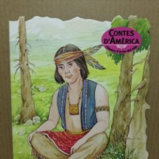 Libros de segunda mano: CUENTO TROQUELADO EN CATALA CONTES DE AMÉRICA L INDI ERRANT COMBEL 2005. Lote 184063770