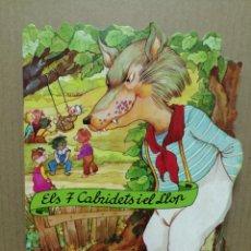 Libros de segunda mano: CUENTO TROQUELADO EN CATALA ELS 7 CABRITETS I EL LLOP COMBEL 1998. Lote 184063968