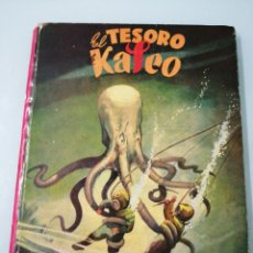 Libros de segunda mano: EL TESORO DE KALEO. ILUSTRACIÓN SORPRESA. M. VALLVE. ILUSTRACIONES LOZANO OLIVARES. AGOSTO 1952.. Lote 185692483