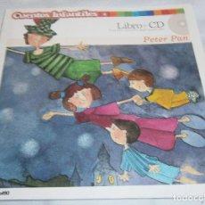 Libros de segunda mano: CUENTOS INFANTILES LIBRO+CD PETER PAN Nº2. Lote 185997436