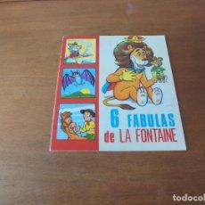Libros de segunda mano: CUENTO DE 1969: 6 FÁBULAS DE LA FONTAINE. ILUSTRACIONES DE ANTONIO AYNÉ. EDICIONES TORAY.. Lote 187184097