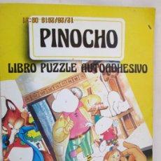 Libros de segunda mano: PINOCHO - LIBRO PUZZLE AUTOADHESIVO - ED. SALDAÑA. . Lote 189557491