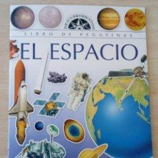Libros de segunda mano: LIBRO DE PEGATINAS EL ESPACIO. EDICIONES SERVILIBRO NUEVO. Lote 189942728