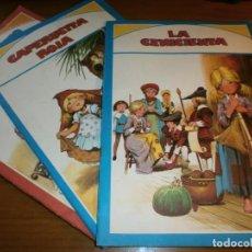 Libros de segunda mano: LOTE 3 CUENTOS MUNDO MARAVILLOSO - LA CENICIENTA, CAPERUCITA ROJA, EL SOLDADITO DE PLOMO - 1981.. Lote 189988901
