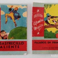 Libros de segunda mano: PAREJA DE CUENTOS COLECCIÓN ALFOMBRA MÁGICA. PÁJAROS EN PRIMAVERA Y UN SASTRECILLO VALIENTE. W. Lote 191182486