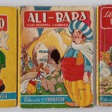 Libros de segunda mano: 3 CUENTOS COLECCIÓN PARA LA INFANCIA. LA BELLA DURMIENTE DEL BOSQUE, ALI-BABA Y PINOCCHIO. W. Lote 191182785