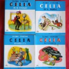 Libros de segunda mano: ELENA FORTUN: LOTE 4 CUENTOS DE CELIA. Lote 191496892