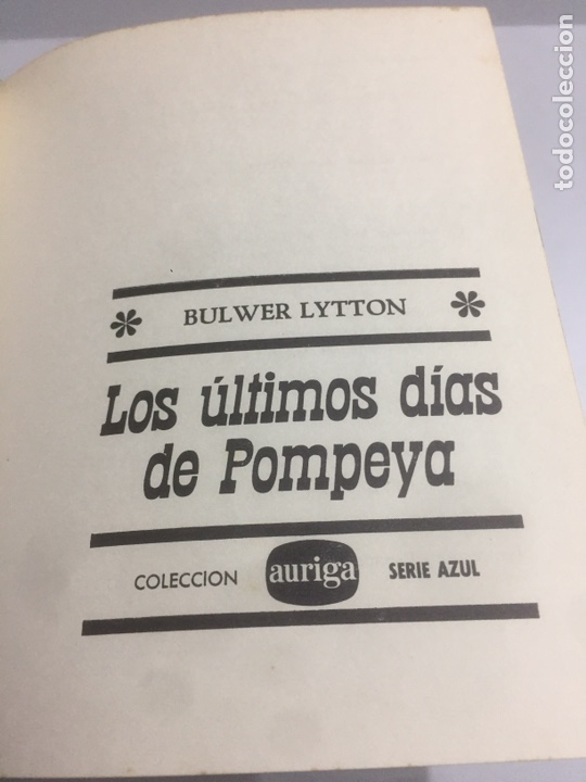 Libros de segunda mano: Los últimos días de Pompeya.1970 185 pág. - Foto 2 - 192023201