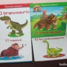 Libros de segunda mano: 4 LIBROS EL MUNDO DE LOS DINOS ANIMALES PREHISTORICOS. Lote 192718560