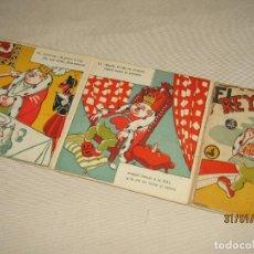 Libros de segunda mano: ANTIGUO CUENTO DESPLEGABLE EN GRUESO CARTÓN EL REY GLOTÓN DE REGUERA DIBUJOS DE ESCOBAR- AÑO 1940-50. Lote 192889827