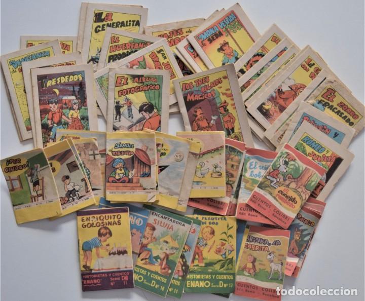 LOTE 56 MINI CUENTOS VARIADOS AÑOS 60 CON PUBLICIDAD CASA MICALET DE SUECA Y CADENA COLOR BARCELONA (Libros de Segunda Mano - Literatura Infantil y Juvenil - Cuentos)