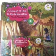 Libros de segunda mano: ALICIA EN EL PAÍS DE LAS MARAVILLAS. Nº 4. VAUGHAN. EDICIÓN BILINGÜE ESPAÑOL-INGLES, CON CD. . Lote 194273971