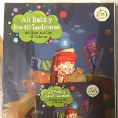 Libros de segunda mano: ALÍ BABÁ Y LOS 40 LADRONES. Nº 5. VAUGHAN. EDICIÓN BILINGÜE ESPAÑOL-INGLES, CON CD. . Lote 194274123