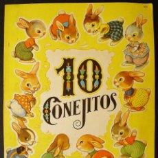 Libros de segunda mano: 10 CONEJITOS. EDITORIAL SIGMAR, BUENOS AIRES. 1950. DIBUJOS RODOLFO DAN. VERSOS JULIA DAROQUI. Lote 194382866