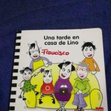 Libros de segunda mano: UNA TARDE EN LA CASA DE LINO. EDUCACION INFANTIL 2 AÑOS. Lote 194575655