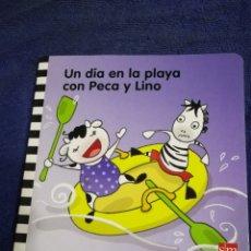 Libros de segunda mano: UN DIA EN LA PLAYA CON PECA Y LINO. EDUCACION INFANTIL 2 AÑOS. Lote 194575865