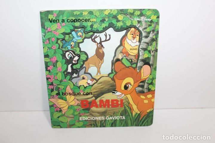 CUENTO VEN A CONOCER... EL BOSQUE CON BAMBI - EDICIONES GAVIOTA (Libros de Segunda Mano - Literatura Infantil y Juvenil - Cuentos)
